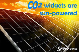 CO2 widgets are powered by the sun